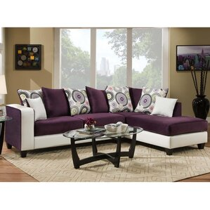 Dilorenzo Modern Solid Wood Sectional  sc 1 st  Wayfair : purple sectional sofa - Sectionals, Sofas & Couches