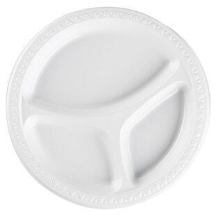 Plastic Divided Plates White  sc 1 st  Wayfair & Divided Picnic Plates | Wayfair
