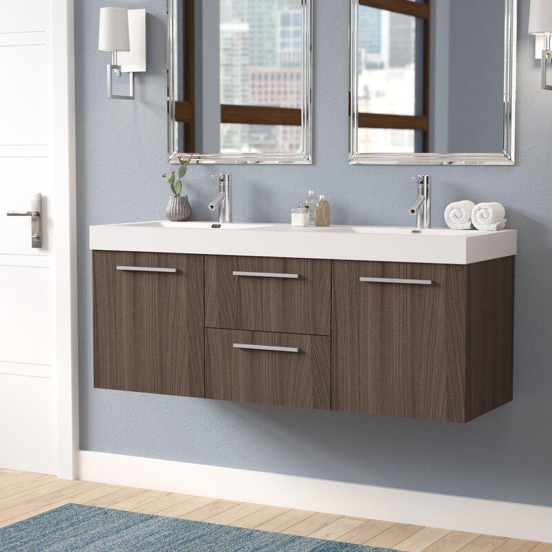 Brayden studio frausto 54 double bathroom vanity set - Bathroom vanity liquidation sale ...