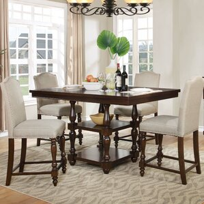 5 Pieces Counter Height Pub Table Set by BestMasterFurniture