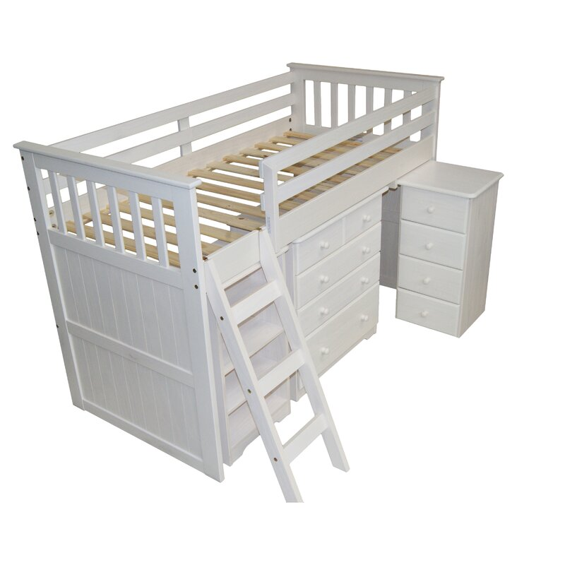 Just Kids Cabin Single Mid Sleeper Bed & Reviews | Wayfair ...