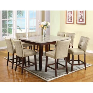 Jaina 9 Piece Pub Table Set