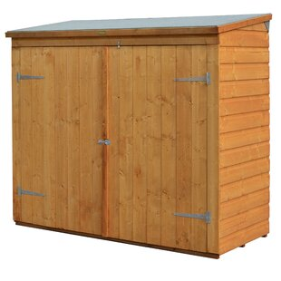 D Wooden Vertical Bike Shed