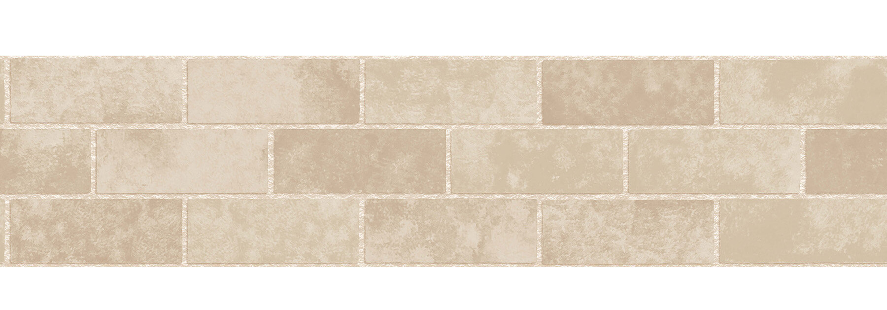 "WallPops! 16.3' X 5.9"" Stone Tile Peel And Stick Border"