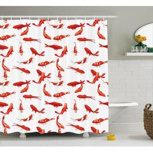 School Of Koi Fish Decor Shower Curtain