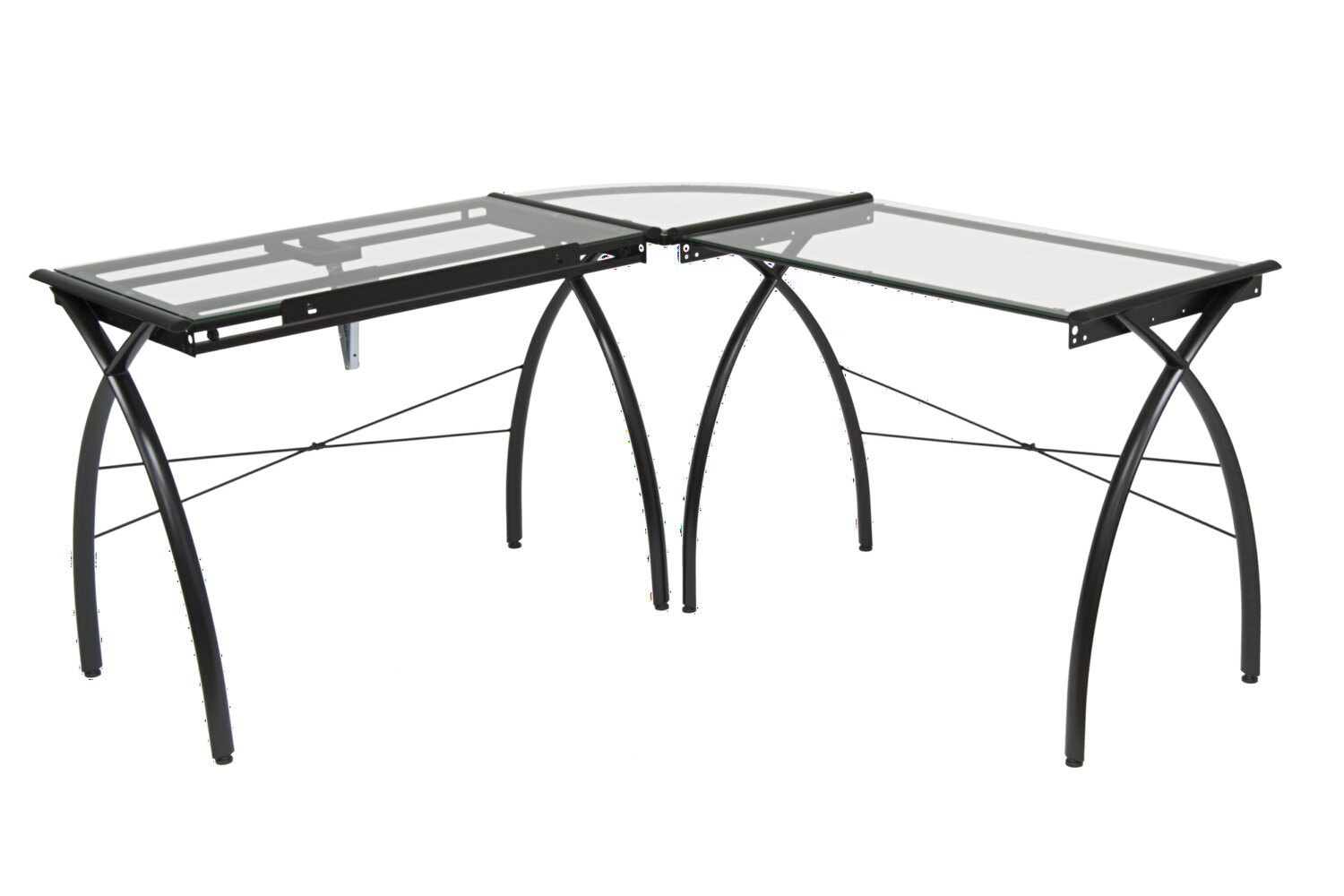 Offex Futura Glass Drafting Table | Wayfair