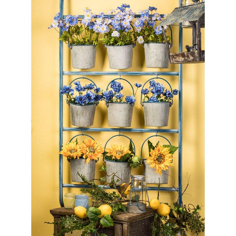 Gracie Oaks Locklear 9-Piece Metal Vertical Garden | Wayfair