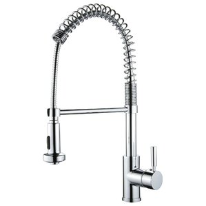 Y Decor Single Handle Deck Mounted Kitchen Faucet with Pull Out Sprayer