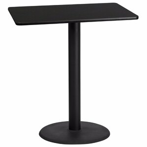 Rectangular Laminate Table Top Adjustable Pub Table by Symple Stuff