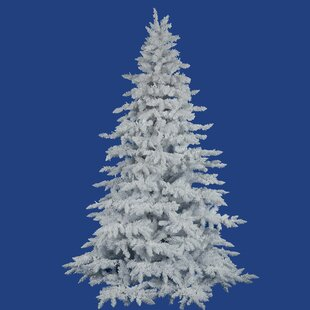 flocked 10 white spruce artificial christmas tree with unlit with stand