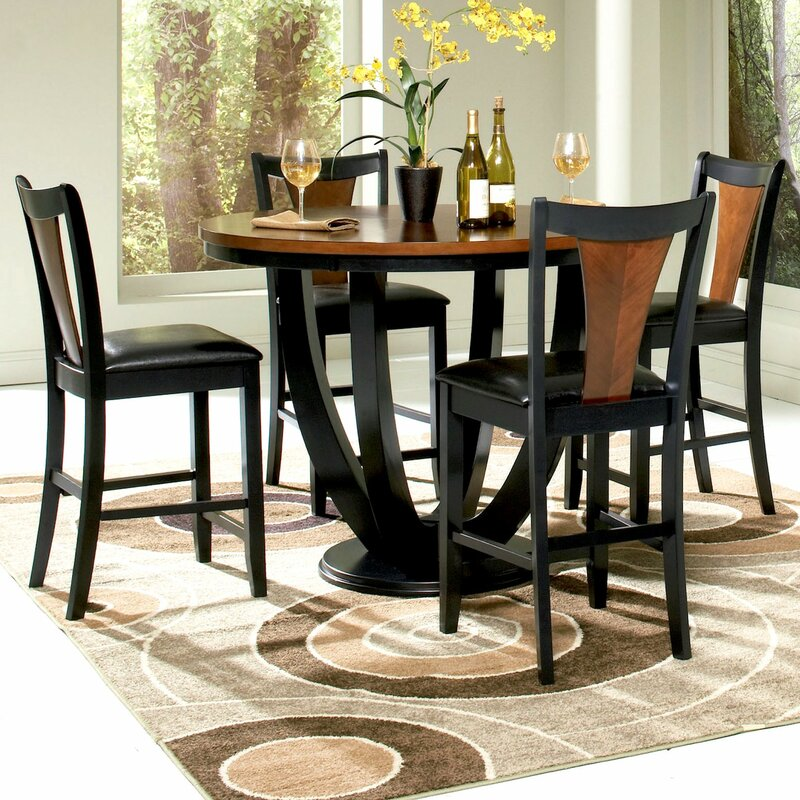 Infini Furnishings Mayer 5 Piece Counter Height Dining Set ...