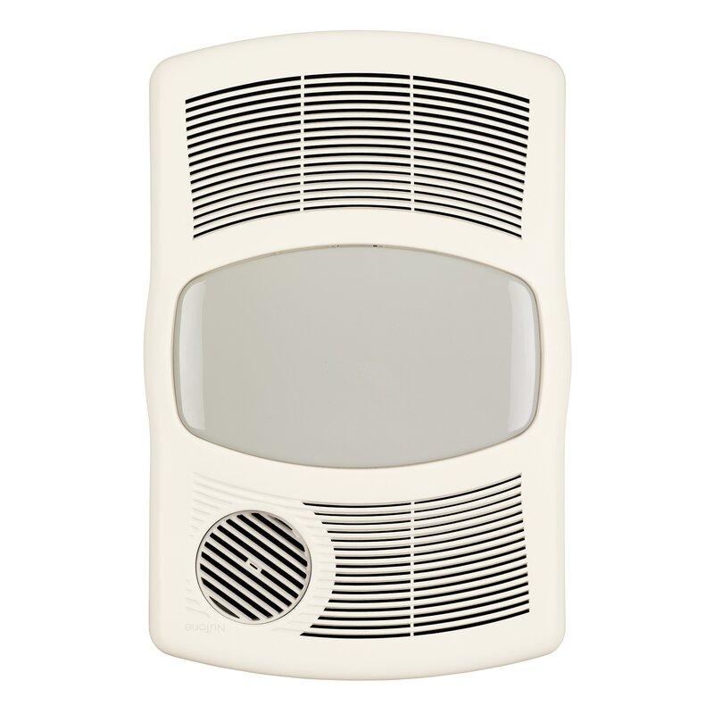 Bathroom Fan broan 100 cfm exhaust bathroom fan with heater & reviews   wayfair