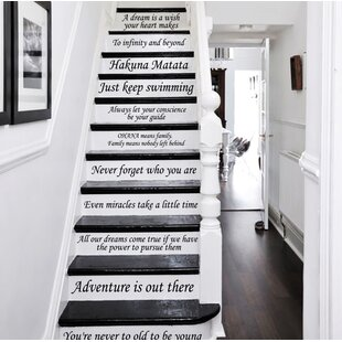 Superb 13 Steps Stairway Decal