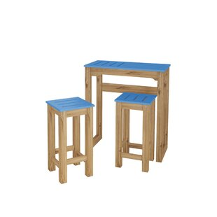 Wiggin 3 Piece Pub Table Set (Set of 3)