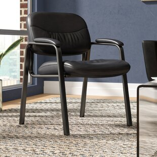 Hillard Leather Guest Chair By Comm Office