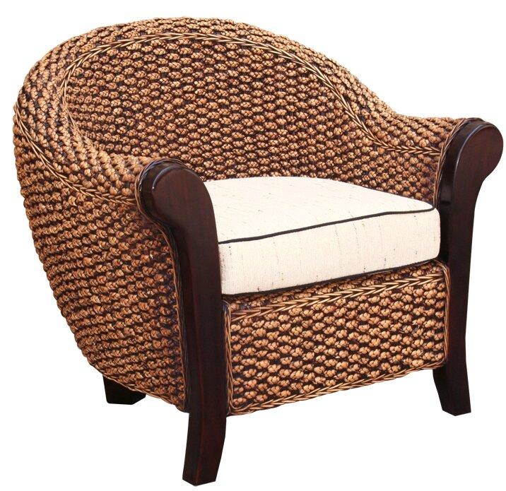 Beau Water Hyacinth Soldano Barrel Chair