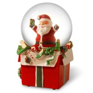 Santa Snowglobe Christmas Figurine