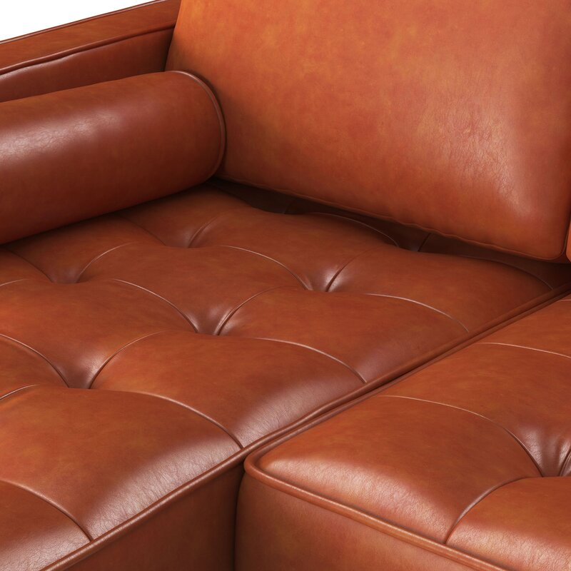 Bombay Leather Reversible Modular Sectional With Ottoman & Reviews ...