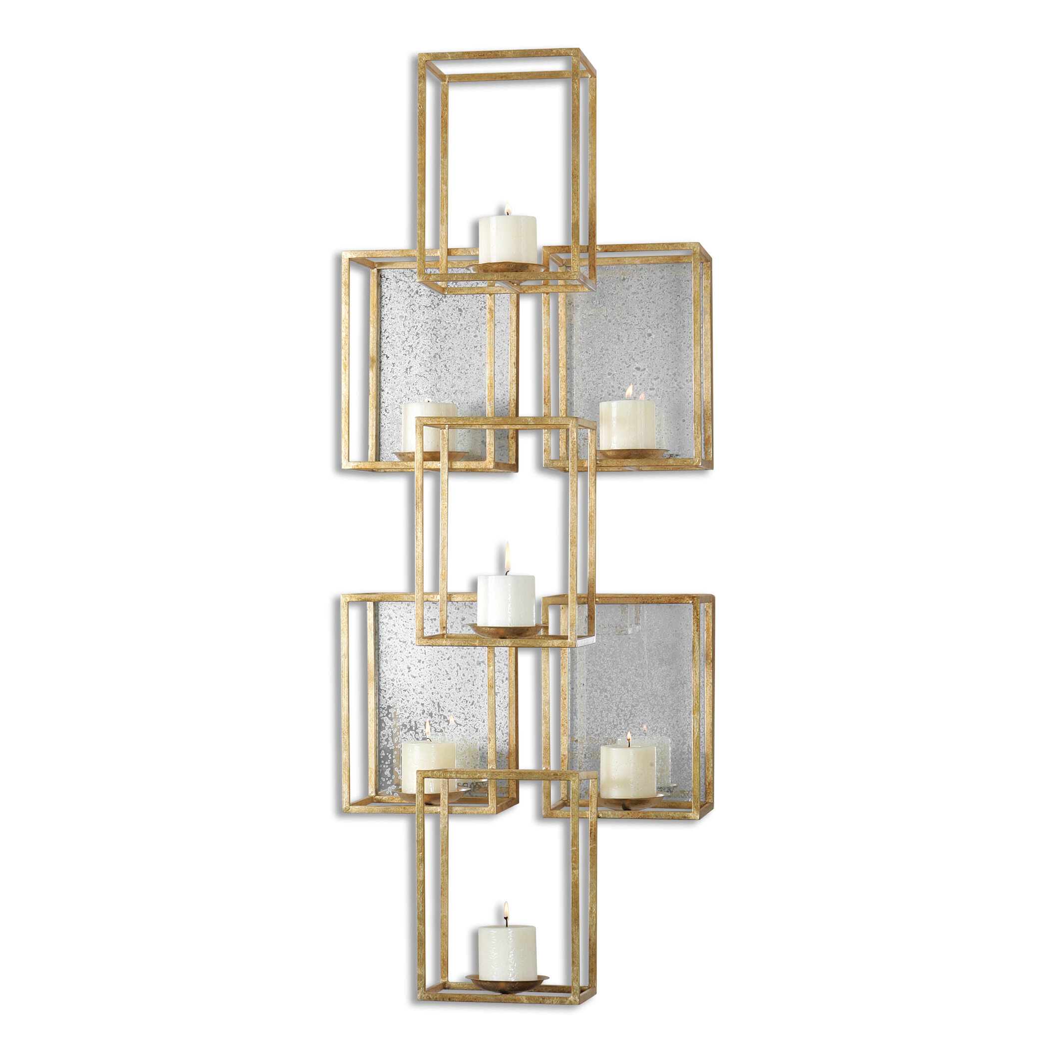 sconces gold wall mirrored and century italian polycrome mecca sconce