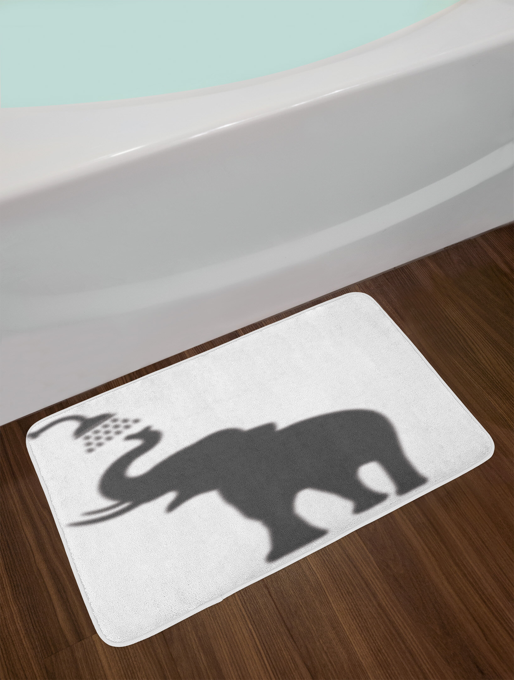 East Urban Home Elephant Taking A Shower Bathing In Bath