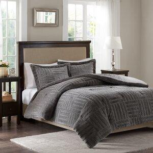 Larkin Fur Down Alternative Comforter Mini Set