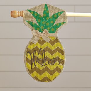 Compton Polka Dot Pineapple Garden Flag