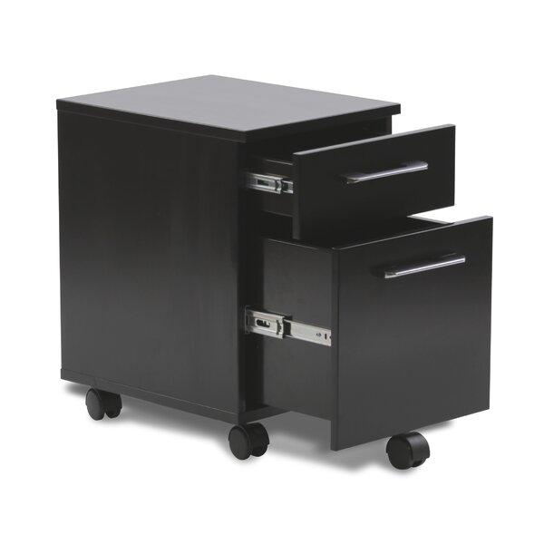 Haaken Furniture Tribeca 2 Drawer Mobile Pedestal Filing Cabinet U0026 Reviews  | Wayfair