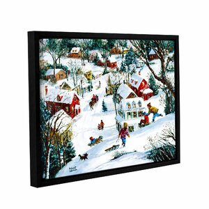 Winter's Playland Framed Painting Print