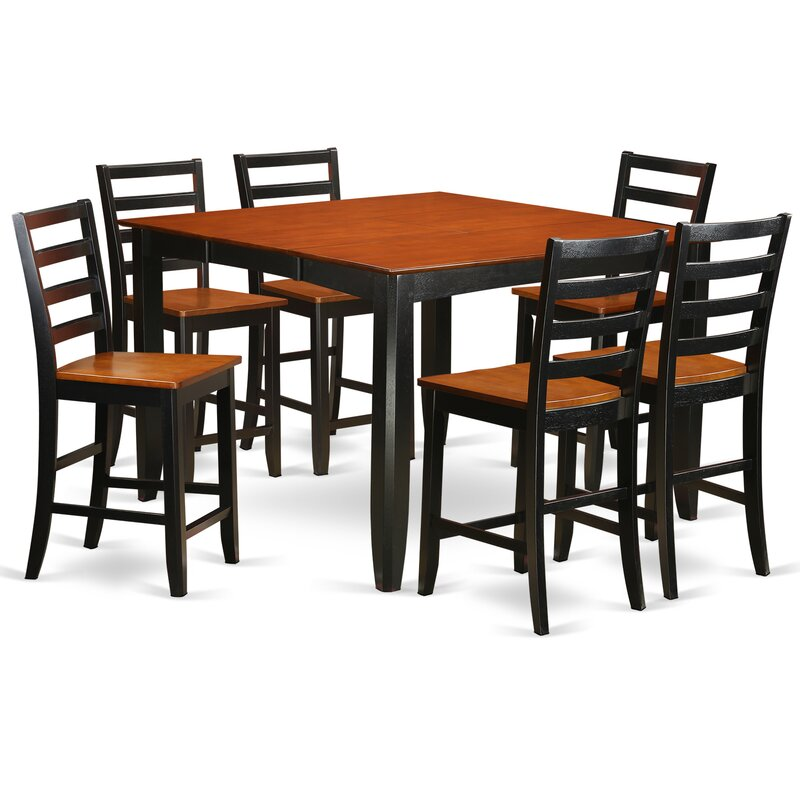 Parfait 7 Piece Counter Height Dining Set