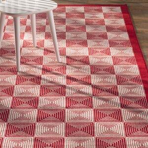 Charlotte Red Indoor/Outdoor Area Rug