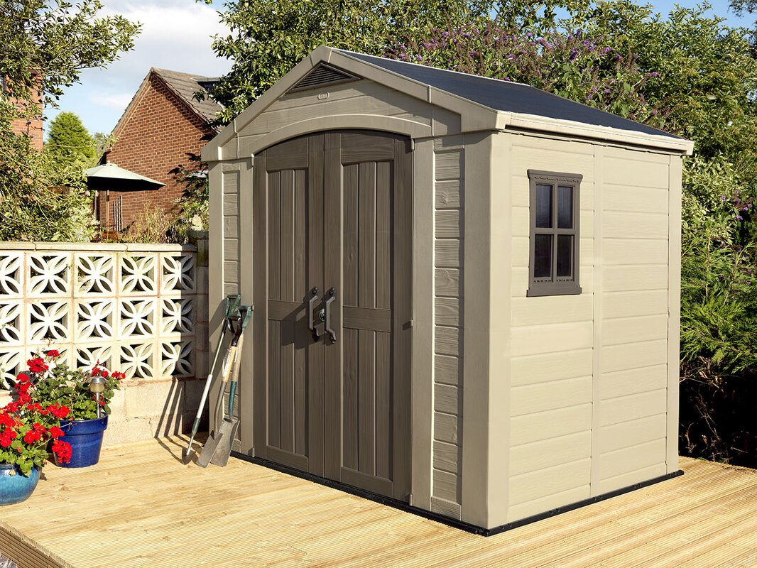 factor 8 ft 5 in w x 6 ft d plastic storage shed