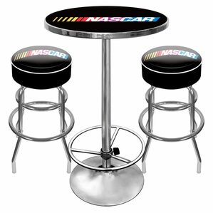 NASCAR Game Room 3 Piece Pub Table Set by..