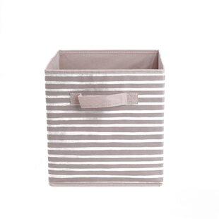 Mind Reader Storage Bin Stripes Design, Foldable Storage Basket With  Handles, Decorative Storage Bins, Cube Organizer Bin, Bathroom, Bedroom, ...