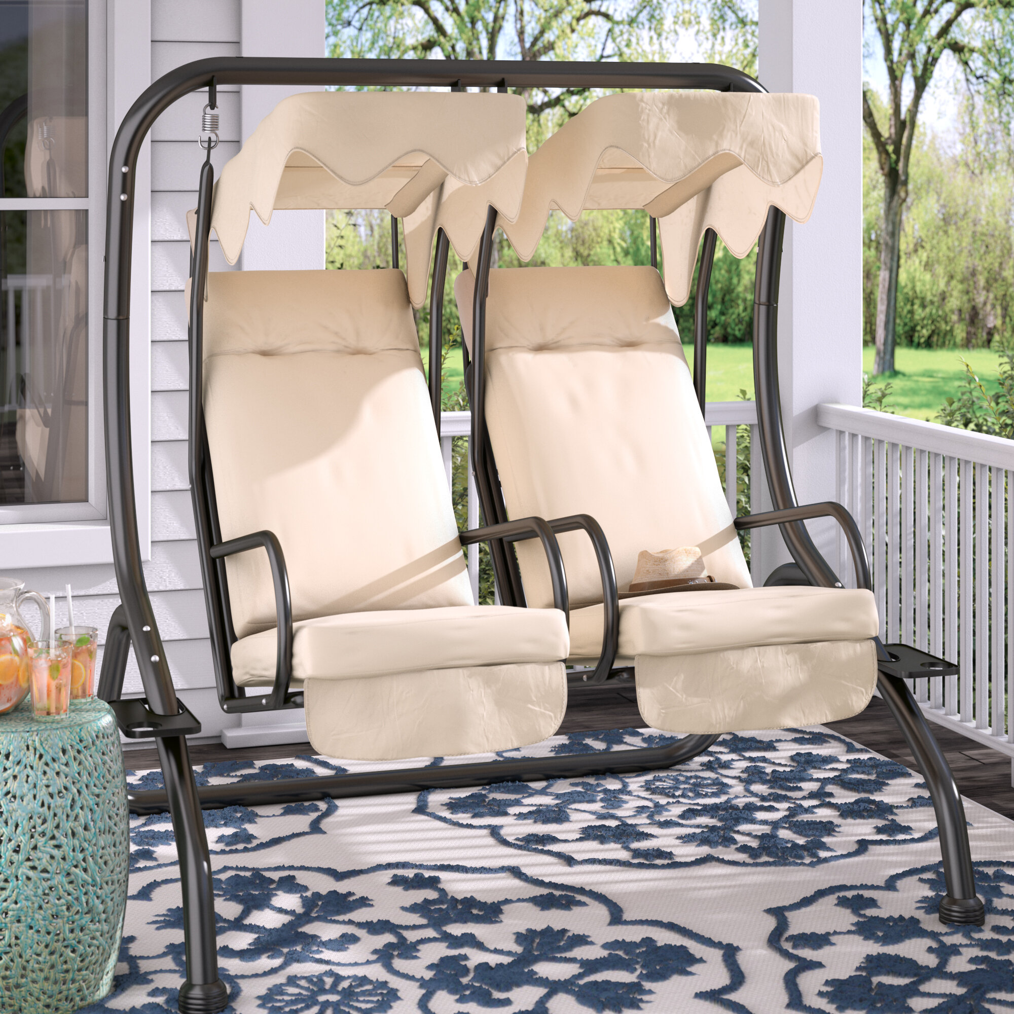 Charlton Home Northbrook Patio Swing with Stand & Reviews