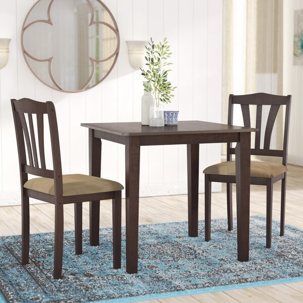 Small Wooden Kitchen Table And Chairs 3 Piece Set: Alcott Hill Dinah 3 Piece Dining Set & Reviews