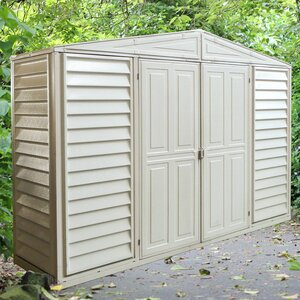 WoodBridge 10 ft. 6 in. W x 2 ft. 9 in. D Plastic Tool Shed