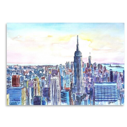 East urban home nyc manhattan skyline neu painting wayfair nyc manhattan skyline neu painting altavistaventures