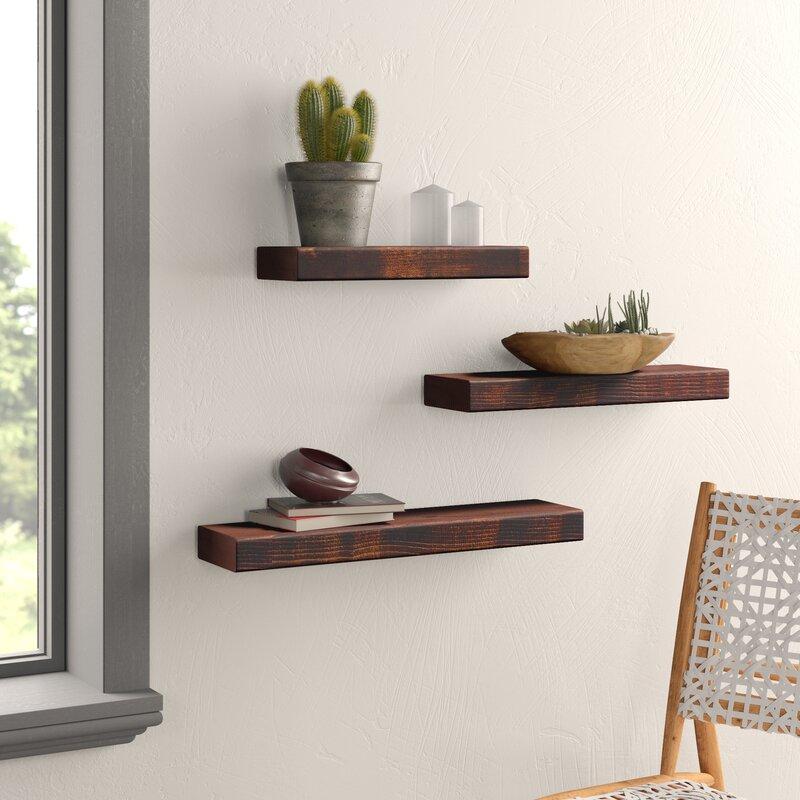 Ines True 3 Piece Wall Shelf Set