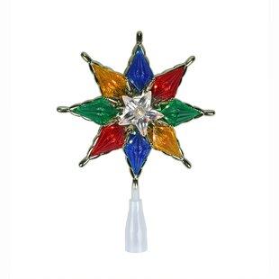 mini christmas tree topper wayfair0 7u0027 star christmas tree topper with clear lights