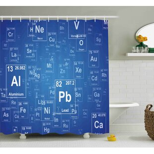 Periodic table shower curtain wayfair keeley science chemistry tv show inspired image with periodic element table image print art shower curtain urtaz Image collections