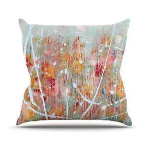 Joy by Iris Lehnhardt Splatter Paint Throw Pillow