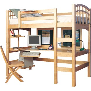 bunk beds loft beds with desks wayfair rh wayfair com bunk bed and desk combo bunk bed and desk combo