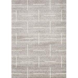 Vedder Sliced Lines Gray Area Rug