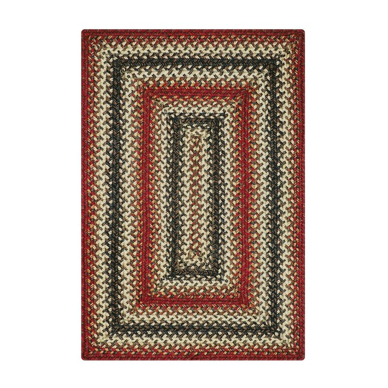 """Emely Hand-Braided Red Indoor/Outdoor Area Rug Rug Size: Rectangle 2'3"""" x 3'0.75"""" -  August Grove"""