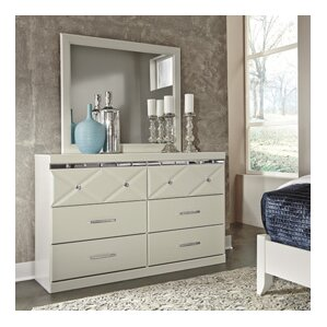Redick 6 Drawer Double Dresser with Mirror by Willa Arlo Interiors