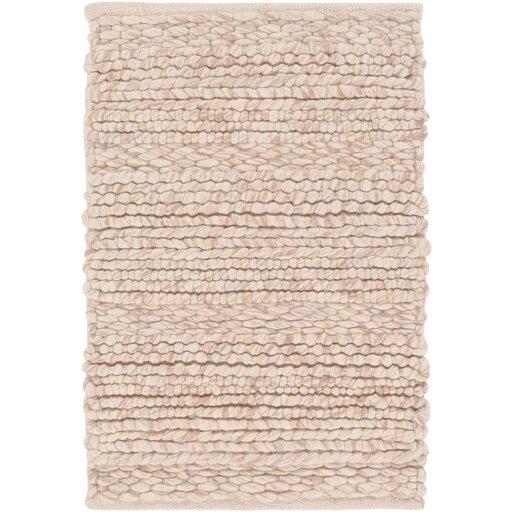 Birch Lane Jocelyn Handwoven Wool Beige Area Rug