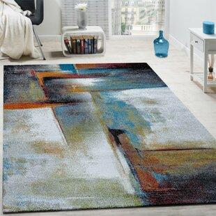 Dandre Grey/Blue Rug by Longweave