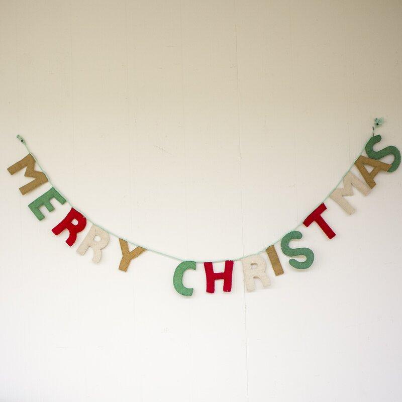 kalalou merry christmas banner decor wayfair