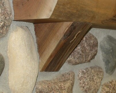 Kettle Moraine Fireplace Mantel Natural Corbel In Walnut Wayfair