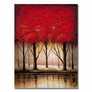 'Serenade in Red' Painting Print on Canvas